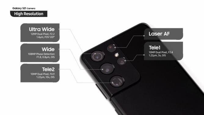 نگاهی به قابلیتهای پیشرفته حسگر دوربین گلکسی اس ۲۱ اولترا