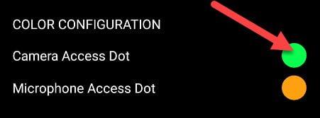 در ابتدا میتوانید رنگ نقطه را با استفاده از دایرهها و انتخاب رنگی متفاوت تغییر دهید.