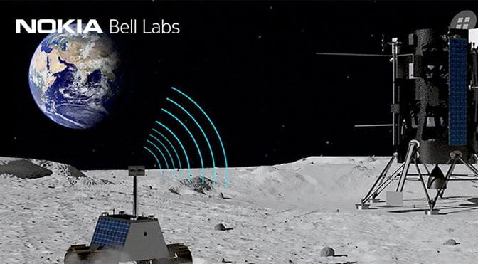 توسعه شبکه 4G بر روی ماه توسط نوکیا
